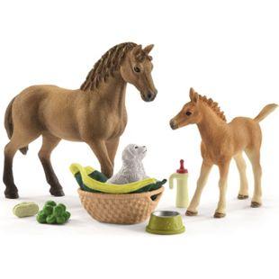 Schleich® Schleich Horse Club 42432 Set Tierbaby-Pflege und Pferde Quarter Horse - Bild 1