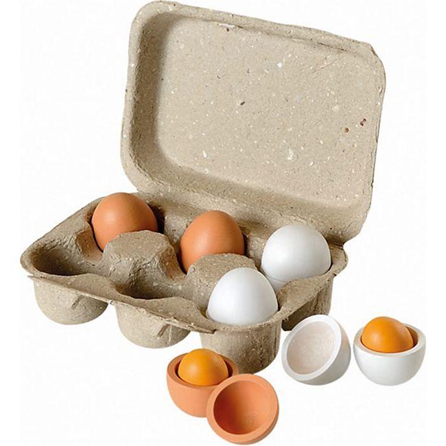 Beluga Eierset aus Holz - Bild 1