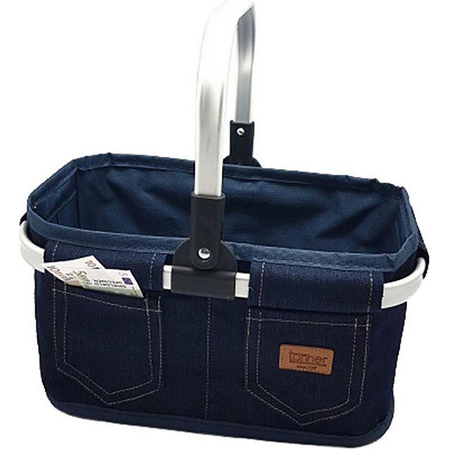 Tanner Einkaufskorb Jeans, leer - Bild 1