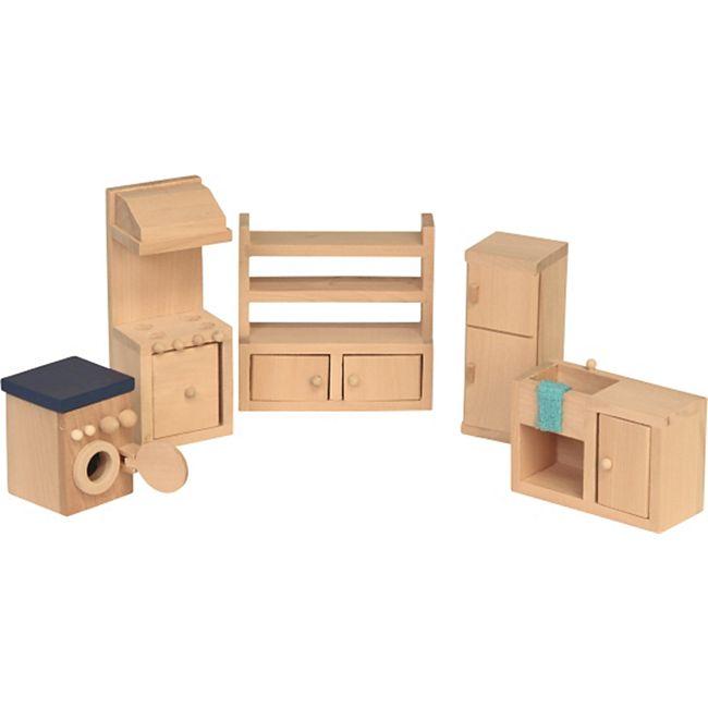 Beluga Spielwaren Puppenhausmöbel Küche, 5-teilig - Bild 1