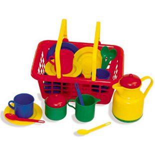 Giplam Korb gefüllt mit Tee / Kaffee Service, Kinderspielzeug - Bild 1