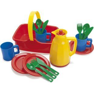 Dantoy Picknickkorb für 3 Personen, 18-teilig, aus Kunststoff, Spielzeug - Bild 1