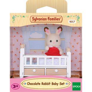 EPOCH Schokoladenhasen Baby mit Babybett - Bild 1