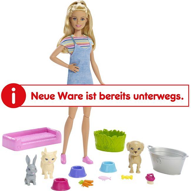Barbie Mattel FXH11  Badespaß Tiere & Puppe (blond) - Bild 1