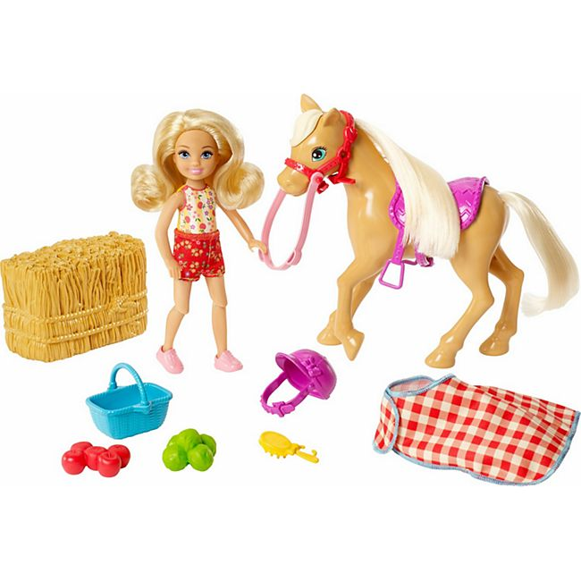 Barbie Mattel GFF50  ''Spaß auf dem Bauernhof'' Chelsea + Pony - Bild 1