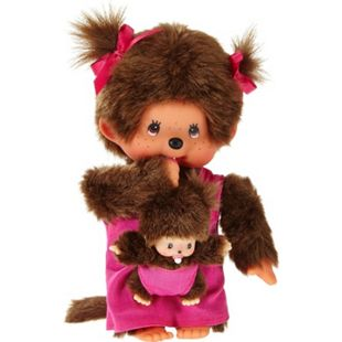 Monchhichi Mother Care Pink Girl, ca. 20 cm - Bild 1