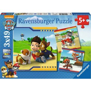 Ravensburger 09369 Puzzle Paw Patrol Helden im Fell 3 x 49 Teile - Bild 1