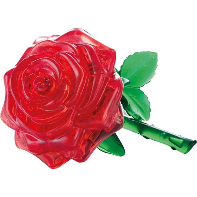 HCM 3D Crystal Puzzle - Rose rot 44 Teile - Bild 1
