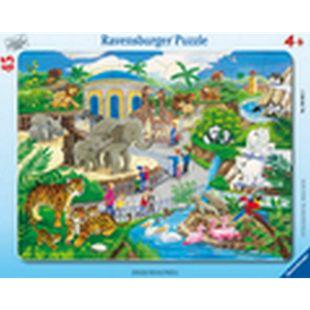 Ravensburger 06661 Rahmenpuzzle Besuch im Zoo 45 Teile - Bild 1