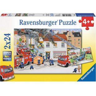 Ravensburger 08851 Puzzle Bei der Feuerwehr 2 x 24 Teile - Bild 1