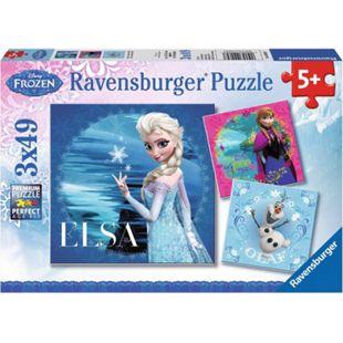 Ravensburger 09269 Puzzle Disney Die Eiskönigin - Elsa, Anna & Olaf 3x49 Teile - Bild 1