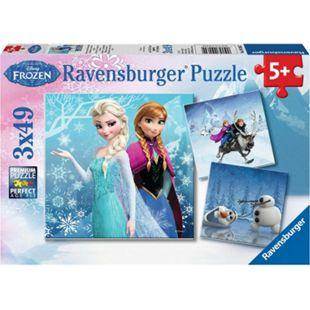 Ravensburger 09264 Puzzle Disney Die Eiskönigin Abenteuer im Winterland 3x49 Teile - Bild 1