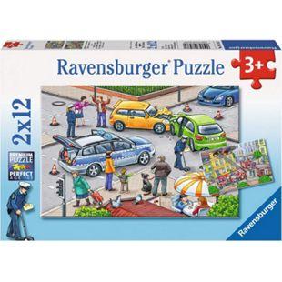 Ravensburger 07578 Puzzle Mit Blaulicht unterwegs 2 x 12 Teile - Bild 1