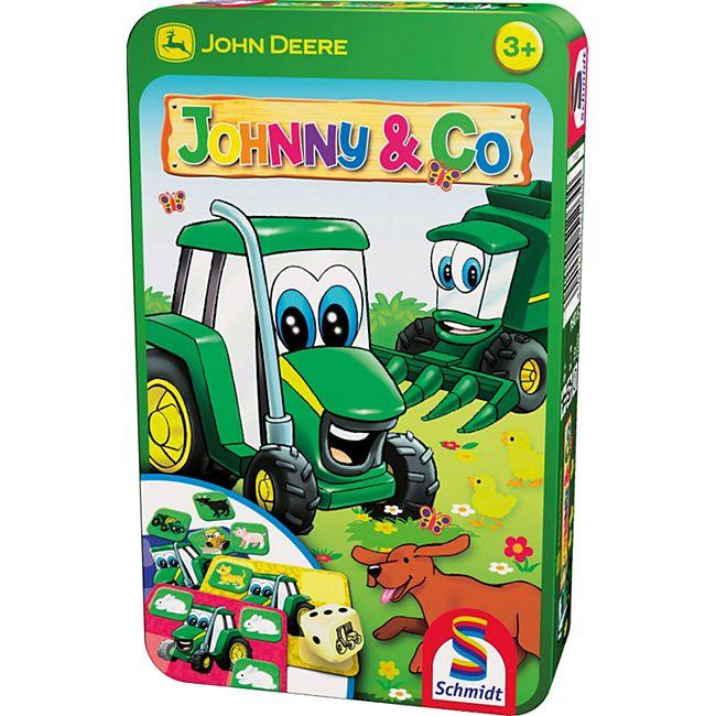 Schmidt Spiele John Deere Johnny & Co Mitbringspiel in der Metalldose - Bild 1