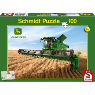 Schmidt Spiele Puzzle John Deere Mähdrescher S690, 100 Teile - Bild 1