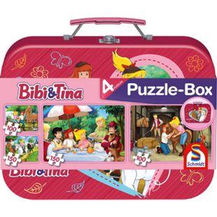 Schmidt Spiele Puzzle Bibi & Tina im Metallkoffer 2 x 100 Teile, 2 x 150 Teile - Bild 1