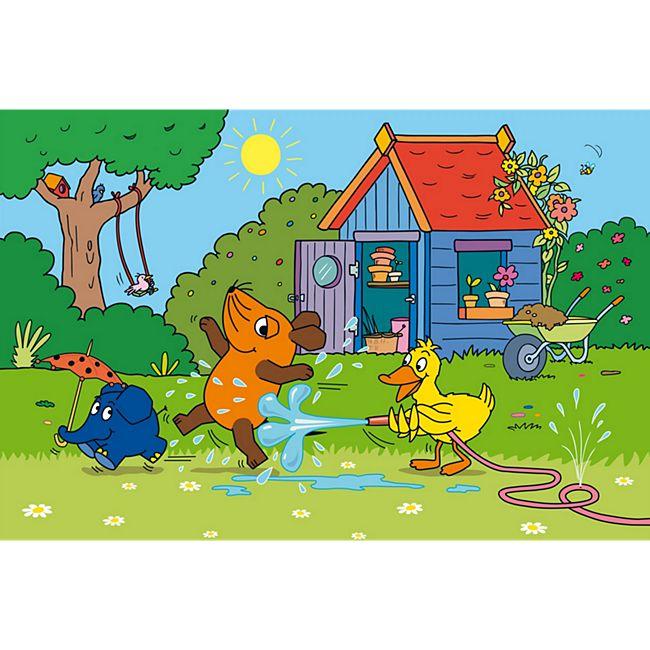 Schmidt Spiele Kinderpuzzle Viel Spaß mit der Maus, 3x48 Teile - Bild 1
