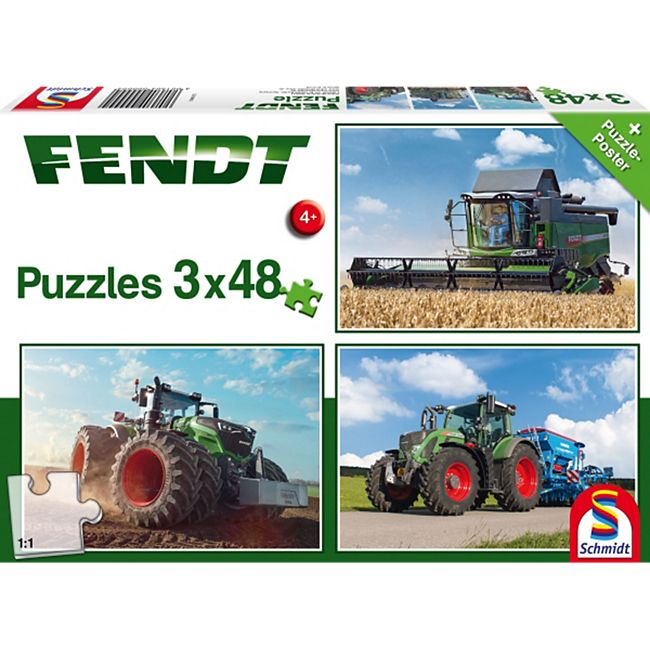 Schmidt Spiele Kinderpuzzle Fendt 1050 Vario / 724 Vario / 6275L, 3x48 Teile - Bild 1