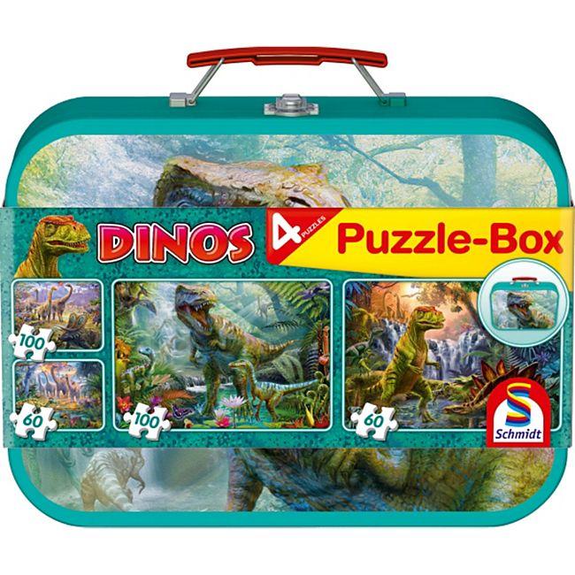 Schmidt Spiele Puzzle Dinos, Puzzle-Box, 2x60, 2x100 Teile - Bild 1