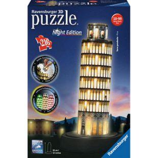 Ravensburger 12515 Puzzle: 3D Pisaturm bei Nacht 216 Teile - Bild 1