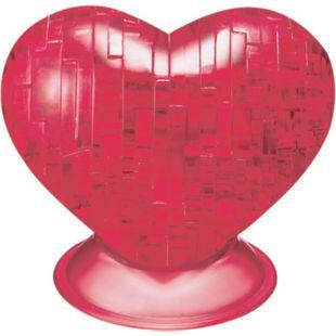 HCM 3D Crystal Puzzle Herz Rot 46 Teile - Bild 1