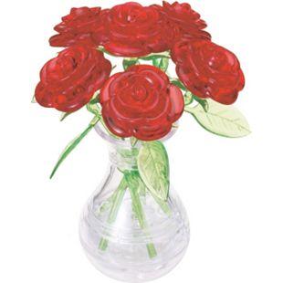 HCM 3D Crystal Puzzle - 6 rote Rosen in der Vase 47 Teile - Bild 1