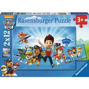 Ravensburger 07586 Puzzle: Ryder und die Paw Patrol 2x12 Teile - Bild 1