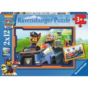 Ravensburger 07591 Puzzle: Paw Patrol im Einsatz 2x12 Teile - Bild 1