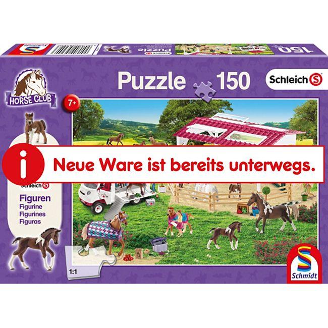 Schmidt Spiele Kinderpuzzle Schleich Reitschule und Tierärztin, 150 Teile - Bild 1