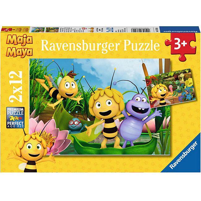 Ravensburger 07624 Puzzle: Ausflug mit Biene Maja 2 x 12 Teile - Bild 1