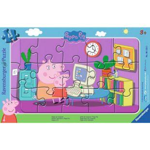 Ravensburger 06123 Puzzle: Peppa am Computer, 8-17 Teile - Bild 1