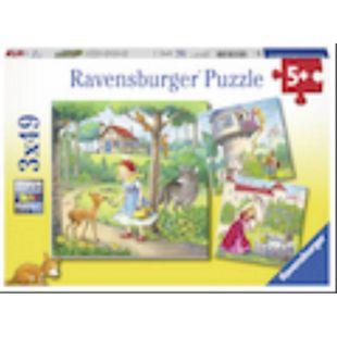 Ravensburger 08051 Puzzle: Rapunzel, Rotkäppchen & Froschkönig, 3x49 Teile - Bild 1