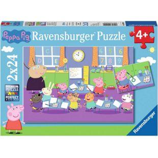 Ravensburger 09099 Puzzle: Peppa in der Schule, 2x24 Teile - Bild 1