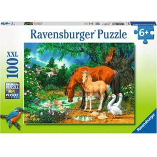 Ravensburger 10833 Puzzle XXL: Idylle am Teich, 100 Teile - Bild 1