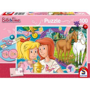Schmidt Spiele Puzzle Bibi und Tina Pferdeglück 100 Teile mit Slap-Snap-Band - Bild 1