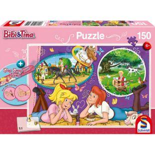 Schmidt Spiele Puzzle Bibi und Tina Freundinnnen für immer 150 Teile mit Slap-Snap-Band - Bild 1