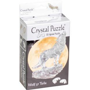 HCM Crystal Puzzle - Wolf Schwarz 37 Teile - Bild 1