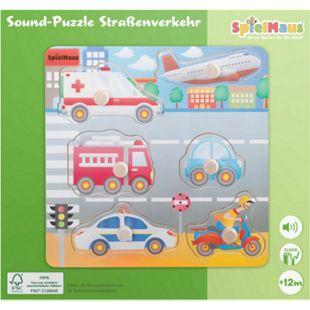 SpielMaus Holz Sound Holzpuzzle Straßenverkehr - Bild 1