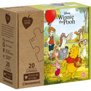 Clementoni Puzzle Play for Future - Winie the Pooh 2 x 20 Teile - Bild 1