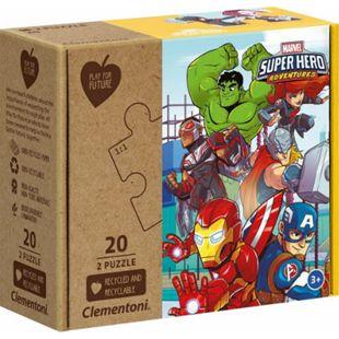 Clementoni Puzzle Play for Future - Marvel Superhelden 2 x 20 Teile - Bild 1
