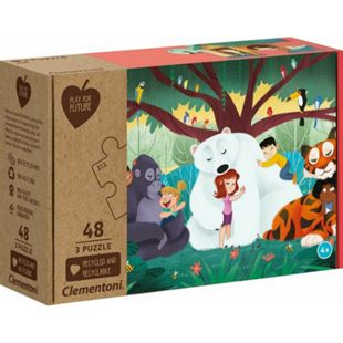 Clementoni Puzzle Play for Future - Fantasyland 3 x 48 Teile - Bild 1
