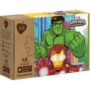 Clementoni Puzzle Play for Future - Marvel Superhero 3 x 48 Teile - Bild 1