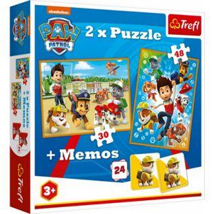 Beta Service 2in1 Puzzles (30 Teile und 48 Teile) + Memo # PAW Patrol - Bild 1