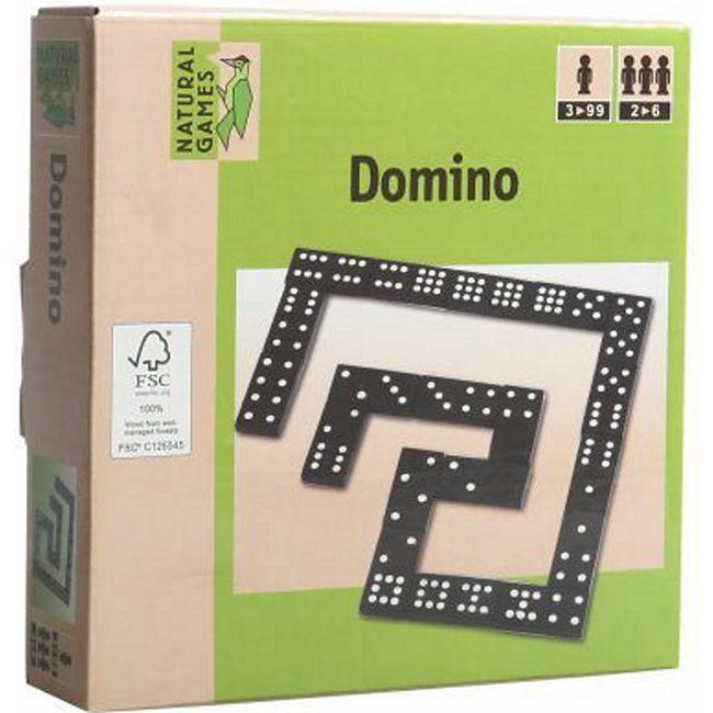 Natural Games Holz Domino, 55 Steine - Bild 1