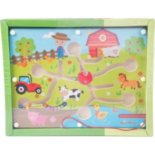 SpielMaus Holz SpielMaus Kugellabyrinth + Magnetstift Bauernhof - Bild 1