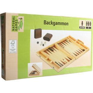 Natural Games Backgammon 38 x 22 x 5 cm - Bild 1