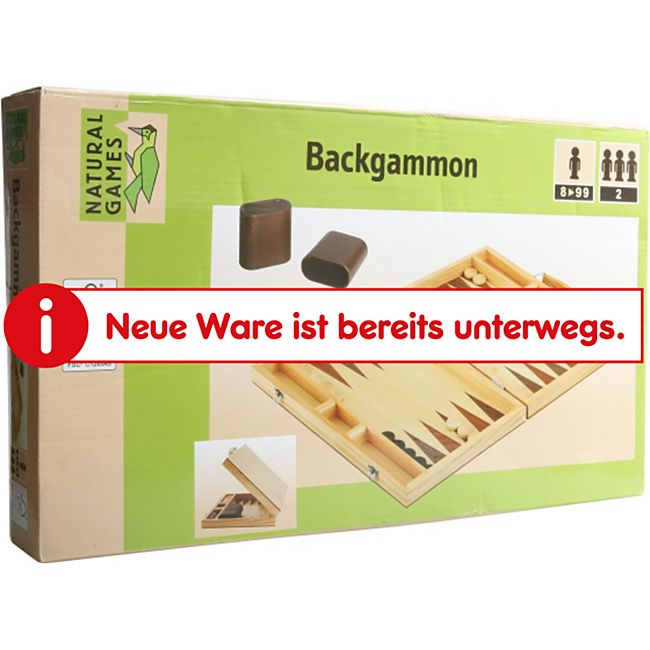 Natural Games Backgammon 38 x 22 x 5 cm - Bild 1