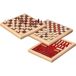 Philos Schach-Dame-Set Holzbox 32 x 32 cm - Bild 1