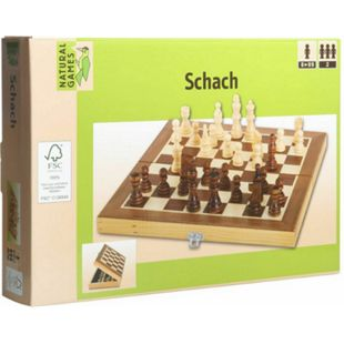 Natural Games Schachkassette dunkel 29x29 cm - Bild 1