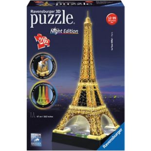 Ravensburger 12579 Puzzle 3D Eiffelturm Night Edition 216 Teile - Bild 1